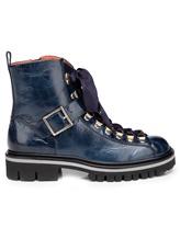 Ботинки Santoni WTWS57821 100% кожа теленка Синий Италия изображение 1