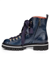 Ботинки Santoni WTWS57821 100% кожа теленка Синий Италия изображение 2