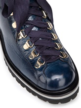 Ботинки Santoni WTWS57821 100% кожа теленка Синий Италия изображение 3