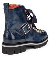Ботинки Santoni WTWS57821 100% кожа теленка Синий Италия изображение 4