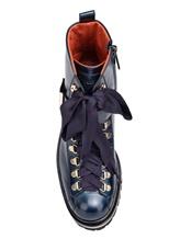 Ботинки Santoni WTWS57821 100% кожа теленка Синий Италия изображение 5