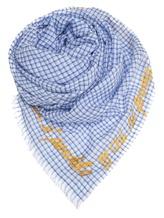 Палантин (текстиль) Faliero Sarti 1011 55% шёлк, 29% хлопок, 16% полиэстер Голубой Индия изображение 0