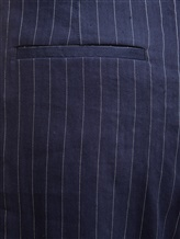 Брюки (текстиль) Peserico P04502 59% лён, 36% вискоза, 3% эластан, 2% полиэстер Синий Италия изображение 2