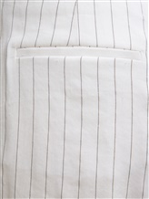 Брюки (текстиль) Peserico P04502 59% лён, 36% вискоза, 3% эластан, 2% полиэстер Белый Италия изображение 2
