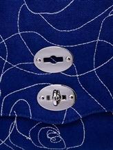 Сумка ZANELLATO 06396 100% лён Синий Италия изображение 5