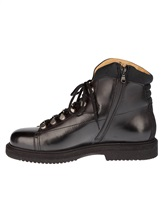 Ботинки Santoni 13466 100% кожа Черный Италия изображение 2