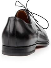 Туфли Santoni 10992 100% кожа Черный Италия изображение 3