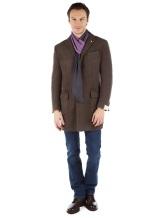 Шарф Pashmere 3013 70% кашемир 30% шёлк Фиолетово-коричневый Италия изображение 2