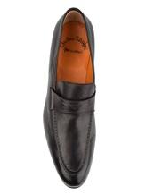 Туфли Santoni 11366 100% кожа Черный Италия изображение 4