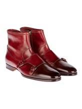 Ботинки Santoni 13436 100% кожа Бордовый Италия изображение 0