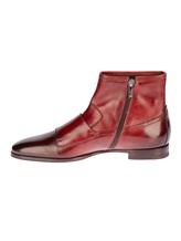 Ботинки Santoni 13436 100% кожа Бордовый Италия изображение 2