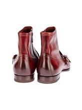 Ботинки Santoni 13436 100% кожа Бордовый Италия изображение 3