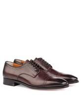 Ботинки Santoni 07088 100% кожа Бордовый Италия изображение 0