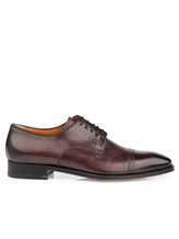 Ботинки Santoni 07088 100% кожа Бордовый Италия изображение 1