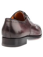 Ботинки Santoni 07088 100% кожа Бордовый Италия изображение 3