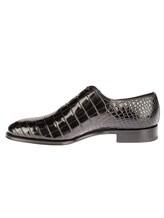 Туфли Santoni 10339 100% кожа Черный Италия изображение 2