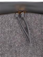 Сумка Agnona PB100X 60% кожа, 40% шерсть Серый Италия изображение 6