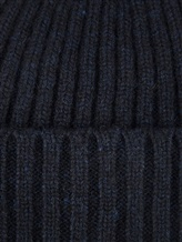 Шапка ONES 130 100% кашемир Темно-синий Италия изображение 1
