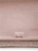 Сумка Agnona PB400X 60% кожа, 40% шерсть Бежевый Италия изображение 7