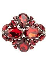 Брошь ERIKA CAVALLINI P8AW06 50% стекло, 50% Медь Красный Италия изображение 0