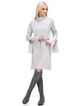 Платье Lamberto Losani 274230 100% шерсть Светло-серый Италия изображение 0