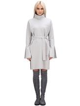 Платье Lamberto Losani 274230 100% шерсть Светло-серый Италия изображение 1