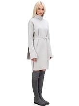 Платье Lamberto Losani 274230 100% шерсть Светло-серый Италия изображение 2