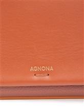 Сумка Agnona PB400X 100% кожа Рыжий Италия изображение 5