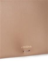 Сумка Agnona PB400X 100% кожа Серо-бежевый Италия изображение 6