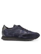 Кроссовки Santoni MBFL20840 60% кожа, 40% текстиль Темно-синий Италия изображение 1