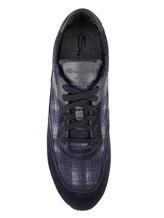 Кроссовки Santoni MBFL20840 60% кожа, 40% текстиль Темно-синий Италия изображение 4