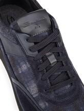 Кроссовки Santoni MBFL20840 60% кожа, 40% текстиль Темно-синий Италия изображение 5