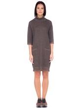 Платье Re Vera 18191039 80% кашемир 20% хлопок Серо-коричневый Китай изображение 1