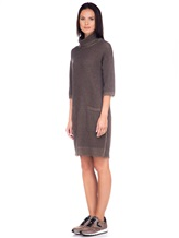 Платье Re Vera 18191039 80% кашемир 20% хлопок Серо-коричневый Китай изображение 2