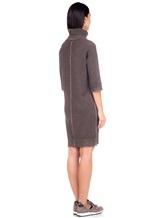 Платье Re Vera 18191039 80% кашемир 20% хлопок Серо-коричневый Китай изображение 4