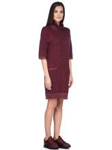 Платье Re Vera 18191039 80% кашемир 20% хлопок Бордовый Китай изображение 2