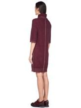 Платье Re Vera 18191039 80% кашемир 20% хлопок Бордовый Китай изображение 3