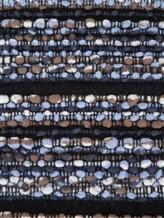 Шарф Faliero Sarti 2098 77% шерсть, 23% кашемир Черно-синий Италия изображение 2