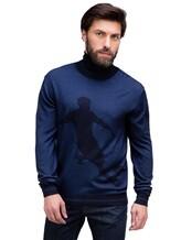 Водолазка Pashmere WU89064 60% шерсть, 30% шёлк, 10% кашемир Синий Италия изображение 0