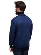 Водолазка Pashmere WU89064 60% шерсть, 30% шёлк, 10% кашемир Синий Италия изображение 3