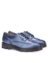 Ботинки Santoni WUUD56815 100% кожа Темно-голубой Италия изображение 0
