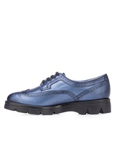 Ботинки Santoni WUUD56815 100% кожа Темно-голубой Италия изображение 2