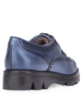 Ботинки Santoni WUUD56815 100% кожа Темно-голубой Италия изображение 3