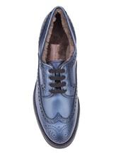 Ботинки Santoni WUUD56815 100% кожа Темно-голубой Италия изображение 4