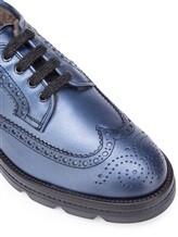 Ботинки Santoni WUUD56815 100% кожа Темно-голубой Италия изображение 5