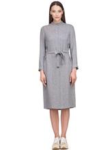 Платье Peserico S02195A 70% вискоза 30% шерсть Светло-серый Италия изображение 1