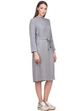 Платье Peserico S02195A 70% вискоза 30% шерсть Светло-серый Италия изображение 2