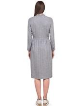 Платье Peserico S02195A 70% вискоза 30% шерсть Светло-серый Италия изображение 3