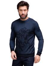 Джемпер Pashmere WU89066 60% шерсть, 30% шёлк, 10% кашемир Серо-синий Италия изображение 0
