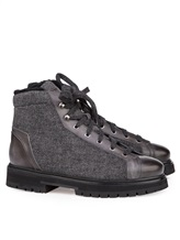 Ботинки Santoni MBSN20943 60% шерсть, 40% кожа Темно-серый Италия изображение 0